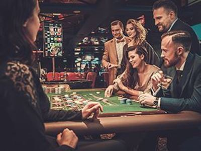 people gambling at a table