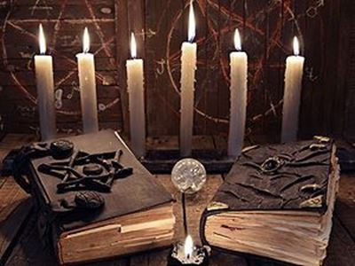 Books with candles